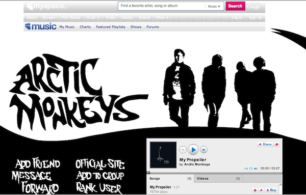 arcticmonkeys myspace