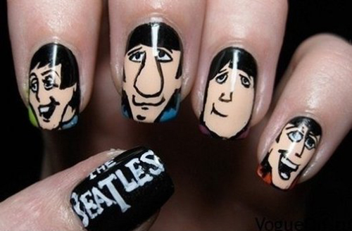 beatles nail art