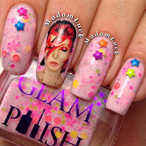 david bowie nail art