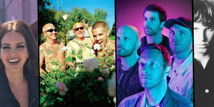 Lana Del Rey, Sublime, Coldplay, The Doors