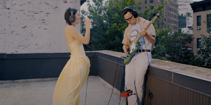 Lorde and Jack Antonoff perform on Electric Lady Studios rooftop