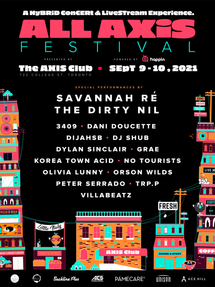 The Axis Club All Axis Festival lineup