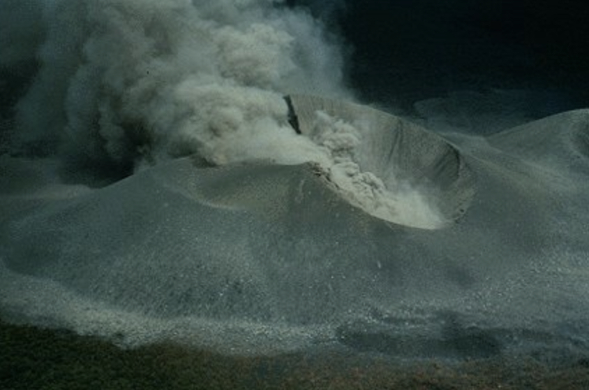 Surf on the volcano