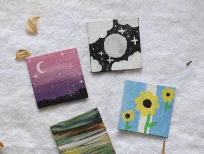 mini canvas painting ideas